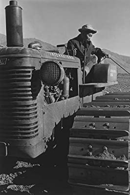 "Buyenlarge Benji Iguchi on Tractor - Gallery Wrapped 44""X66"" canvas Print., 44"" X 66"""""