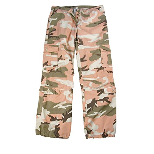 Rothco Women's Vintage Paratrooper Fatigues, Sub Pink Camo, X-Small (Pink Womens Camo Vintage)
