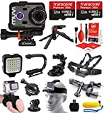 Veho Muvi K-Series K-2 NPNG 1080p 16MP HD WiFi Waterproof Sports Action Camera with 64GB + LED Light + Stabilizing Handle + LCD Screen + Case + Head Strap + Bike Mount + Chest Harness VCC-006-K2NPNG
