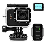 eXpo Sports Action Camera 1080P HD Underwater Camcorder Wifi Remote 20 MP 2.0 Inch LCD Display (Black)