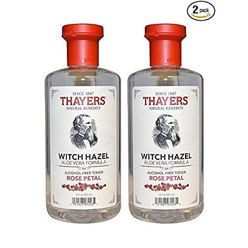 Thayers - Rose Petal Witch Hazel with Aloe Vera Alcohol-Free Toner - 12 Fl Oz (Pack of 2) by THAYERS