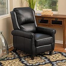 Lloyd Black Leather Recliner Club Chair