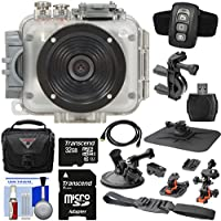 Intova Connex 1080p HD Waterproof Video Action Camera Camcorder (200 ft/ 60m) with Remote + Action Mounts + 32GB Card + Case + HDMI Cable + Reader + Kit