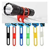 ChineOn MTB Cycling Bike Bicycle Silicone Band Flash Light Flashlight Phone Strap Tie Ribbon Mount Holder(Pack of 5) (Colorful)