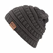 Hunputa Baby Hat Winter, Baby Boy Winter Warm Hat, Infant Toddler Kids Beanie Knit Cap For Girls and Boys For 0-5years (Brown)