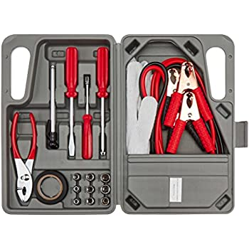 roadside emergency tool and auto kit 30 piece set hand tool sets. Black Bedroom Furniture Sets. Home Design Ideas