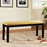 Home Creek Microfiber Cushion Bench