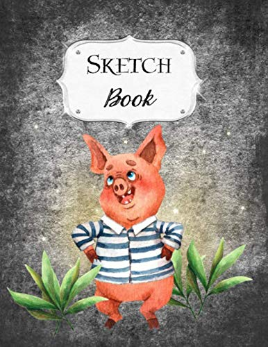 Sketch Book: Pigs | Sketchbook | Scetchpad for Drawing or Doodling | Notebook Pad for Creative Artists | Black -