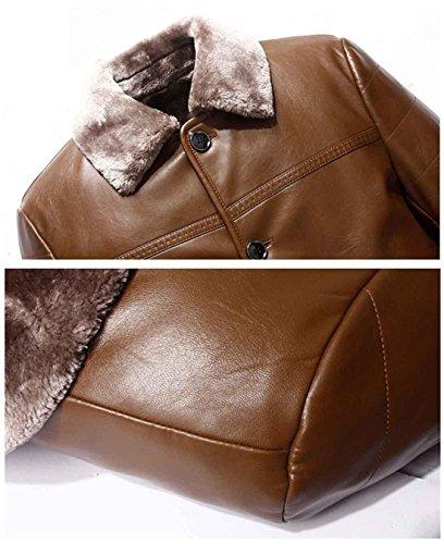 champagne de invierno para hombres de Abrigo de de piel Chaqueta moda los xl 180 Abrigo casual hombres piel de n6aFxwZ