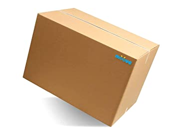 moove cajas de cartón Doble Onda tamaño Grande 60 x 40 x 40 cm para mudanza y envíos, caja de 10 unidades: Amazon.es: Oficina y papelería