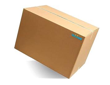 moove cajas de cartón Doble Onda tamaño Grande 60 x 40 x 40 cm para mudanza
