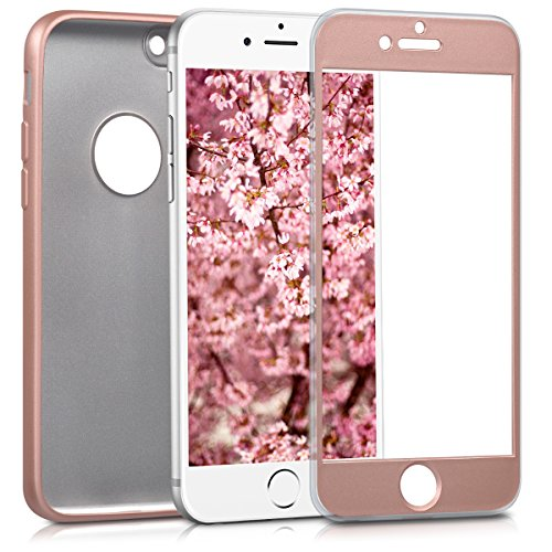 kwmobile Cover for Apple iPhone 6 / 6S - Full body case smartphone protective case TPU silicone - back cover metallic rose gold