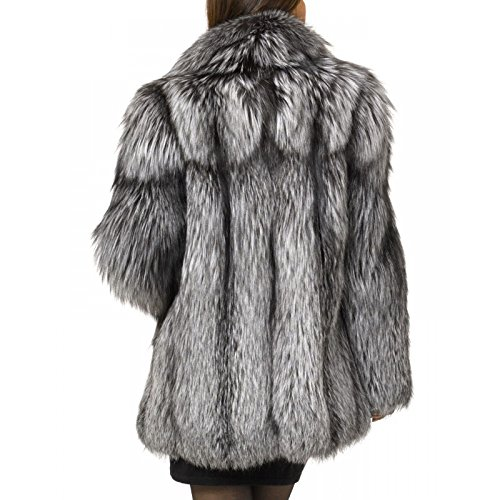 Rvxigzvi Womens Faux Fur Coat Parka Jacket Long Trench Winter Warm Tops Outerwear Overcoat Plus Size M-4XL (Silver Grey, XXL) by Rvxigzvi (Image #3)