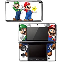 New Super Mario Bros 3D Land World 2 Luigi Star Video Game Vinyl Decal Skin Sticker Cover for Original Nintendo 3DS System Console