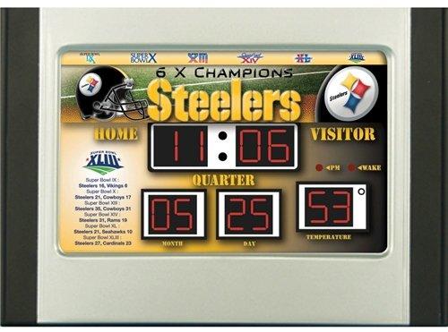 Hall of Fame Memorabilia Pittsburgh Steelers Scoreboard Desk & Alarm Clock