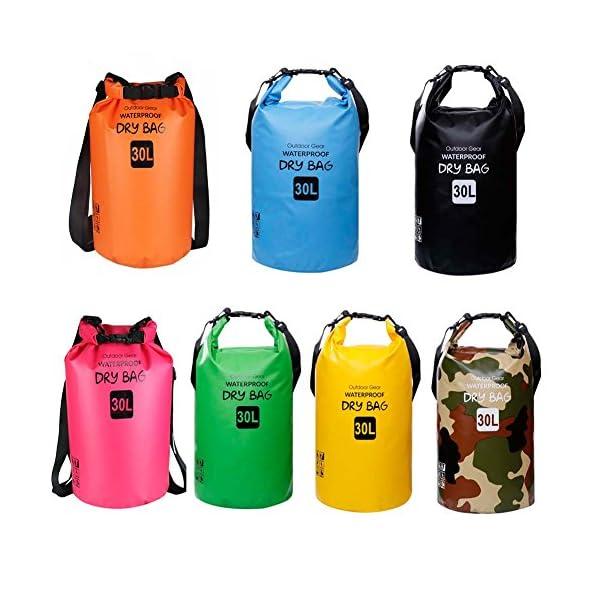 ZhaoCo Borsa Impermeabile, 5L/10L/20L/30L Dry Bag con Tracolla Regolabile Perfetto Per Kajak, Canoa, Vela, Pesca, Nuoto… 3 spesavip