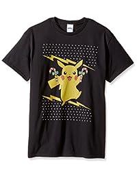 Pokémon mens Candy Cane Pikachu Ugly Christmas T-shirt