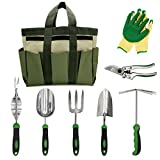 buy Garden Tools Set Gardening Kits Stainless Steel Heavy Duty Gifts for Men Women Including Gloves Tote and Pruning shears now, new 2018-2017 bestseller, review and Photo, best price $79.99