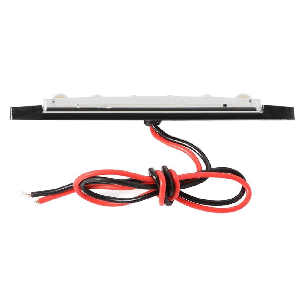 10 pezzi 24V Coda 6 SMD LED indicatore laterale Indicatori lampada posteriore della luce bianca per i bus TOOGOO camion rimorchi autocarri MA565 R
