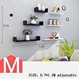 HOMEE Living Room Backdrop Bookshelf Partition Wall Room Bedroom Decoration Shelves Wall Decoration (Multiple Styles Available),M