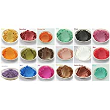 15-Color Matte Mineral Makeup Pigments Shimmer Mica Powder For DIY Soap Making, Cosmetic, Candle Making, Eye shadow, Toiletry Crafters and so on (3 grams Each, 45 Grams Total)