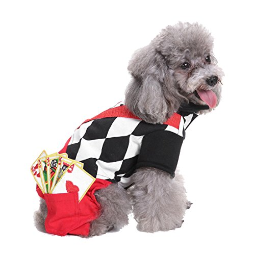 GabeFish Dog Puppy Pets Cool Magician Costume Cats Funny Cosplay Clothes Joker Shirt Suit Four Legs Magician (Joker Cat Costume)