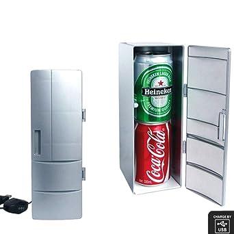 JOLOP Mini USB nevera silencioso frigorífico mini bar congelador ...