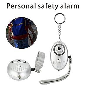 Emergency Security Alarm Keychain with LED Flashlight - personal safety