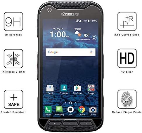 AT/&T, Sprint, Verizon, etc for Duraforce Pro 2X Nakedcellphone 9H Hard Clear Screen Protector Guard E6810, E6820, E6830, E6833, E6800 Crack Saver Duraforce Pro Tempered Glass