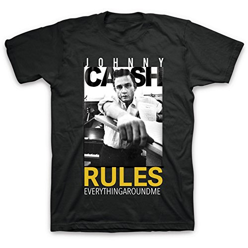 Merch Traffic Johnny Cash Rules Everything Around Me Men's Graphic Tee (2XL)