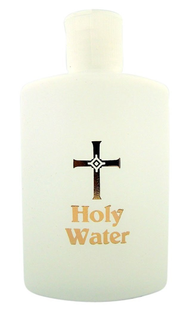 Holy Water Bottle with Flip Spout, 4 Oz