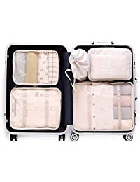 7 pcs Luggage Packing Organizers Packing Cubes Set for Travel