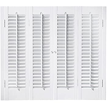 Amazon faux wood diy traditional 1 14 interior shutter kits faux wood diy traditional 1 14 interior shutter kits paint finish white solutioingenieria Images