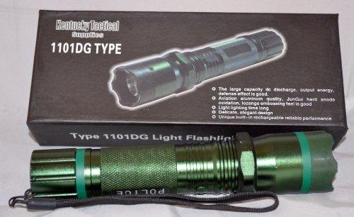 Kentucky Tactical 1101 Flashlight Stun Gun (Green)