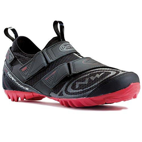 Northwave 2015 Men's Multi App Indoor Cycling Shoe - 80133007-15 (Black/Red - 37)