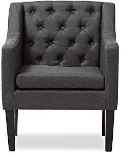 a to Z Furniture - Larkin Upholstered Button-tufted Modern Club Chair in Grey Color