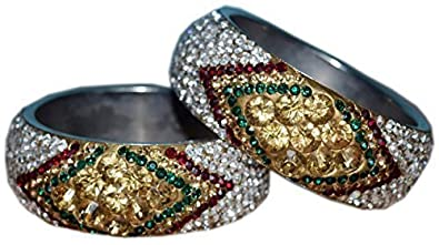 5f3d31594a7d21 JaypurStore Crystal Stones Bangle Set for Her - Bangle Bracelets Wholesale,  Buy Cheap Bangles Online