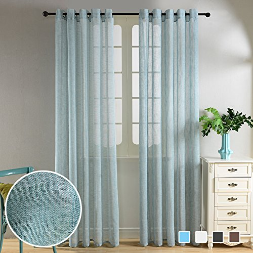 Top Finel Semi Sheer Curtains Grommets