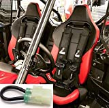 "Set of 2 Dragonfire Racing 4-Point Harness 3"" H-Style Harness W Sternum Clip 3""Black For 2019 + Honda Talon With Harness Override Plug(Must Have with harnesses! or computer will limit speed to 15mph)"
