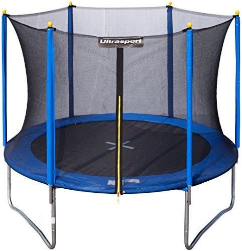 Ultrasport Kinder Gartentrampolin Uni-Jump inkl. Sicherheitsnetz, Blau, 305 cm, 331300000226