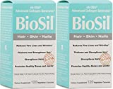 Biosil Skin & Hair & Nails Biosil 120 Vcaps X 2