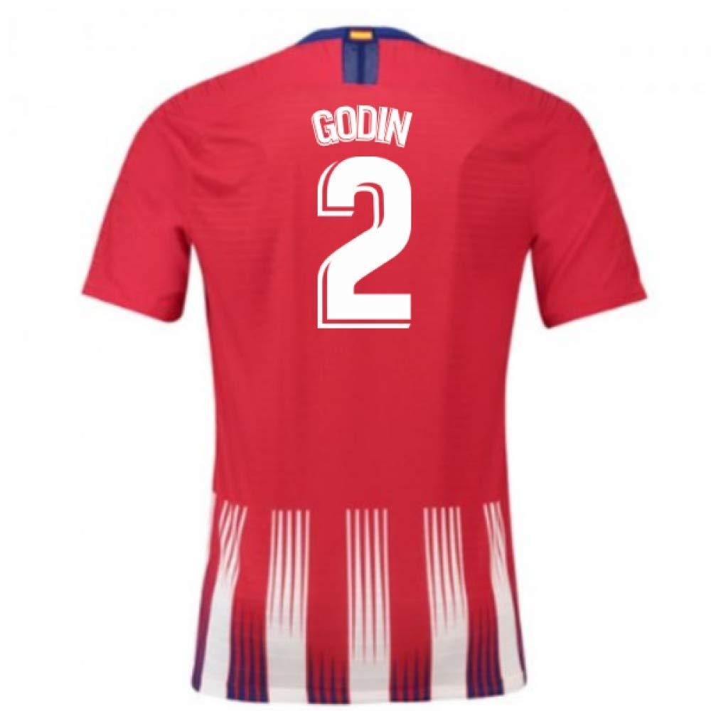 2018-2019 Atletico Madrid Authentic Vapor Match Home Nike Football Soccer T-Shirt Trikot (Diego Godin 2)
