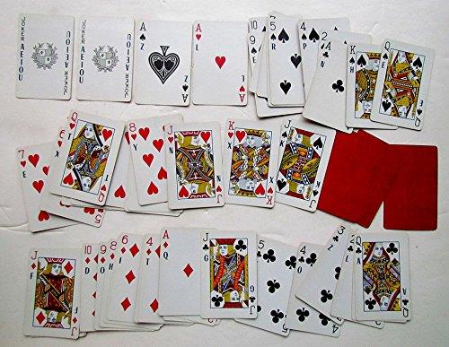 VINTAGE PLAYING CARDS DECK w/ JOKERS AEIOU