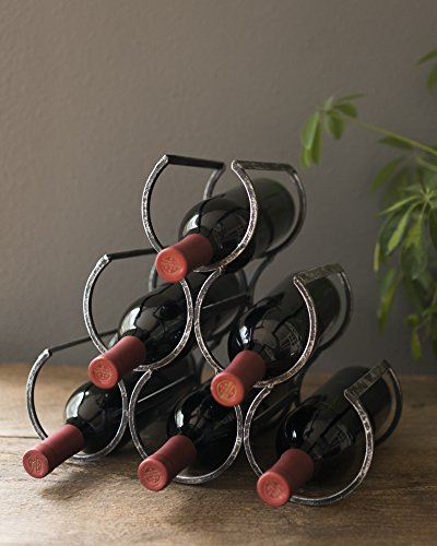 Country Home Wine Shrine by Twine – 6 Bottle Free Standing Metal Wine Rack by Twine (Image #3)
