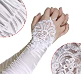 Penta Angel 1920s White Long Opera Gloves with