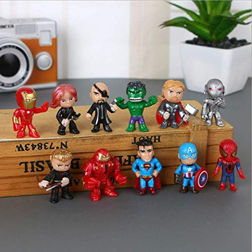 12PCS Avengers Hero Series-Cake Ingredients and Cupcake Top,