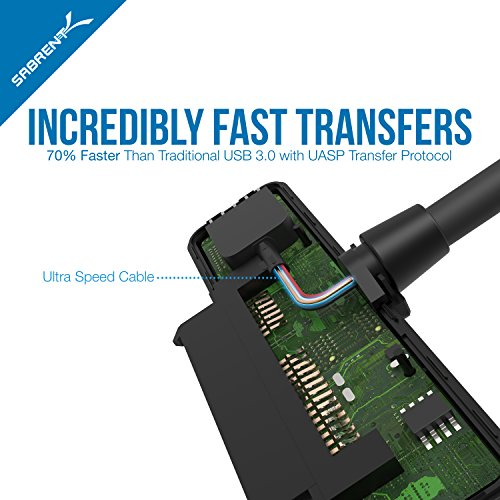 "SSD Sabrent USB 3.0 2.5/""  SATA SSD Hard Drive Adapter support UASP SATA III"