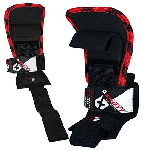 Skott Evo 2 Series Pro Metal Weight Lifting Hooks - Best Heavy Duty Power Lifting Grip Assistance - Set of 2 Elite Series Wrap