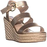 Steve Madden Womens Valery Open Toe Casual Espadrille Sandals, Gold, Size 10.0