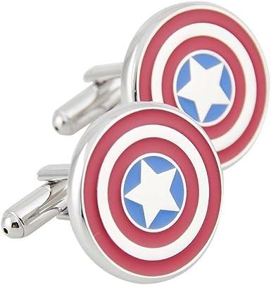 Gemelos para hombre, diseño de camisa de surf, Capitán América: Amazon.es: Ropa y accesorios